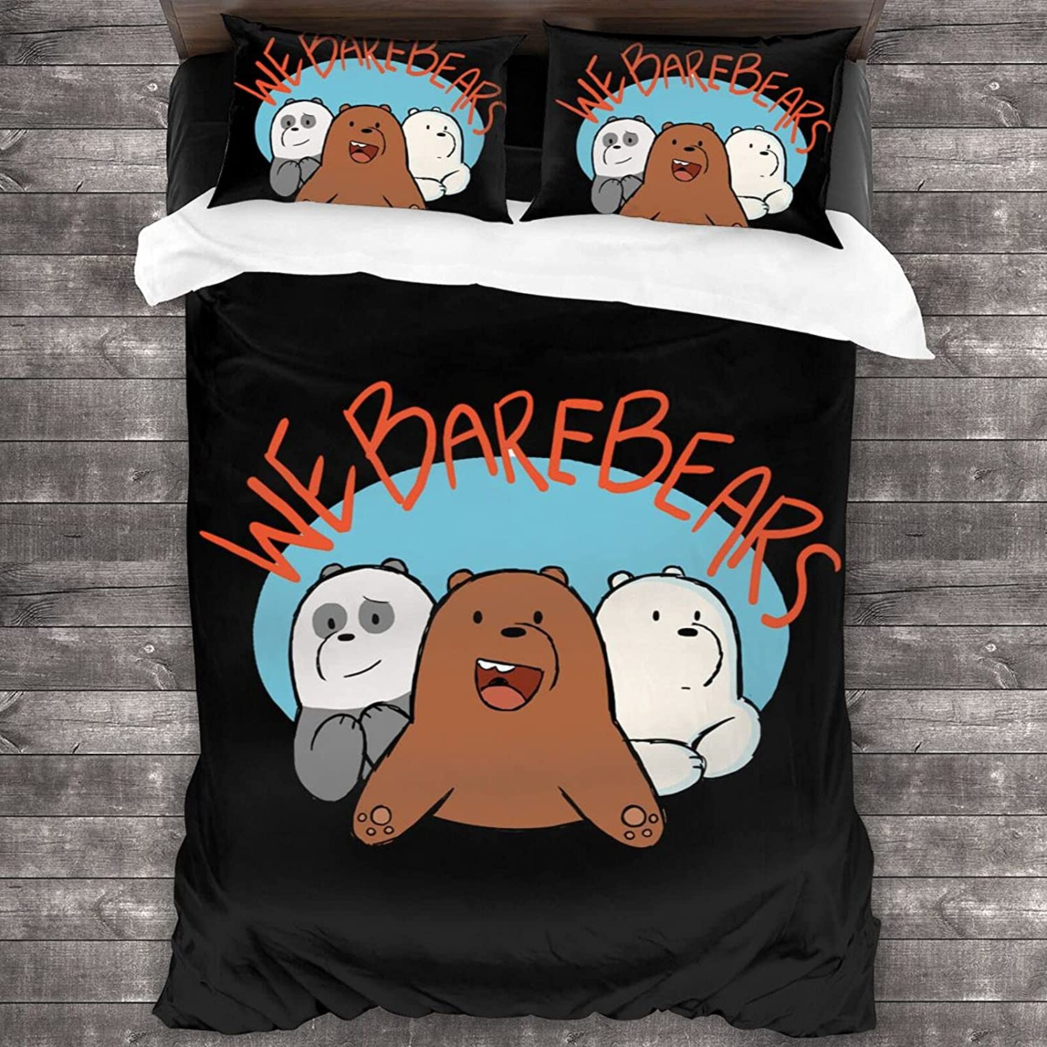 We Opening large New life release sale Bare Bears 3-Piece Bedding Set Cover Pillowcases Quilt 1 + 2
