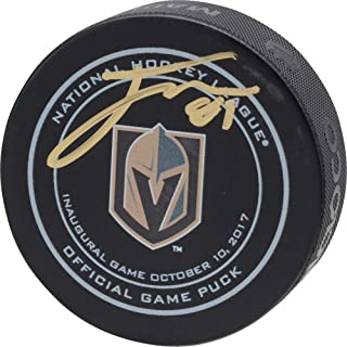 Jonathan Marchessault Vegas Golden Knights Autographed October 10, 2017 Inaugural Opening Night Official Game Puck - Fanatics Authentic Certified