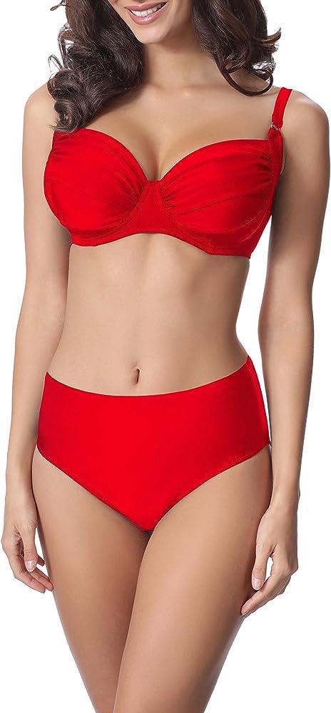 Merry style, completo bikini per donna,costume da bagno a due pezzi, 80% poliammide, 20% elastan P61472W