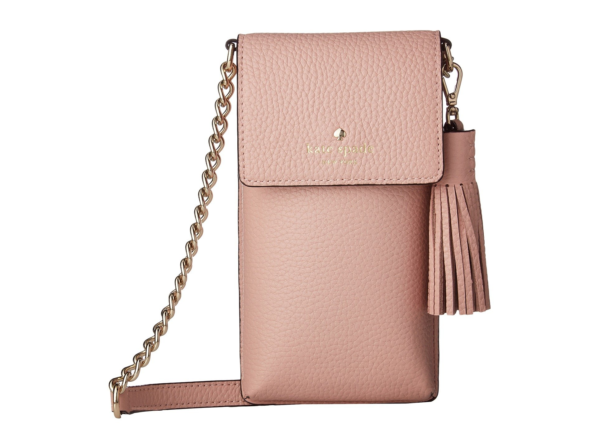 New Kate Spade New York North/South Crossbody Phone Case for iPhone 6, 6s, 7, 8 Rosy Cheeks Cell Phone Case, r