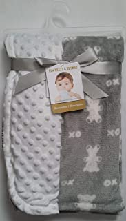 Blankets & Beyond Baby Boy Super Soft Reversible Blanket (Grey/White Bears)