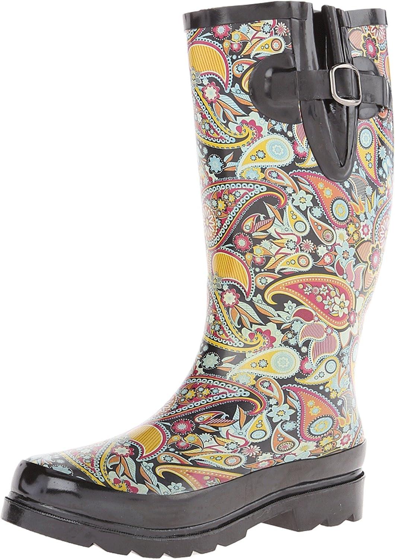M&F Western Blazin Roxx Women's Paisley Rain Boot Round Toe - 58108