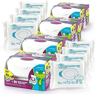 Kandoo Sensitive Tub + 100 Wipes - 4 Pack (4 Tubs,  8 Refills)