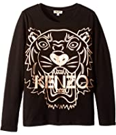 Kenzo Kids - Copper Tiger T-Shirt (Big Kids)