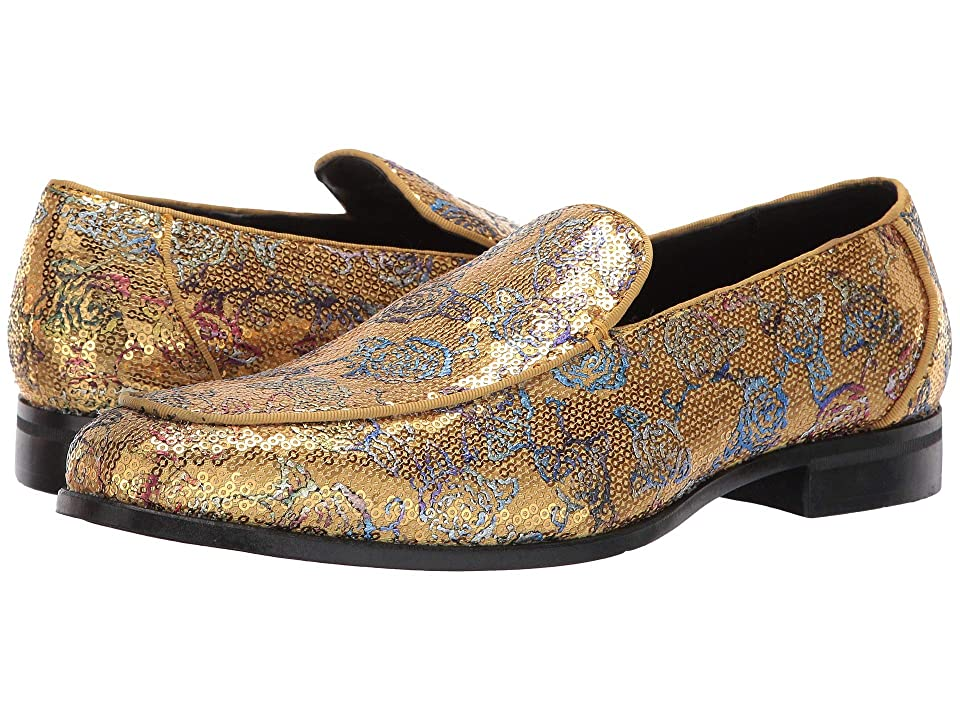 60s Mens Shoes | 70s Mens shoes – Platforms, Boots Stacy Adams Strut Gold Multi Mens Dress Flat Shoes $70.00 AT vintagedancer.com