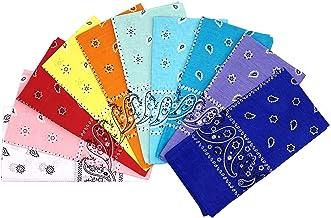 Vamqor 100% Cotton 10 Pack Fine Bandanas