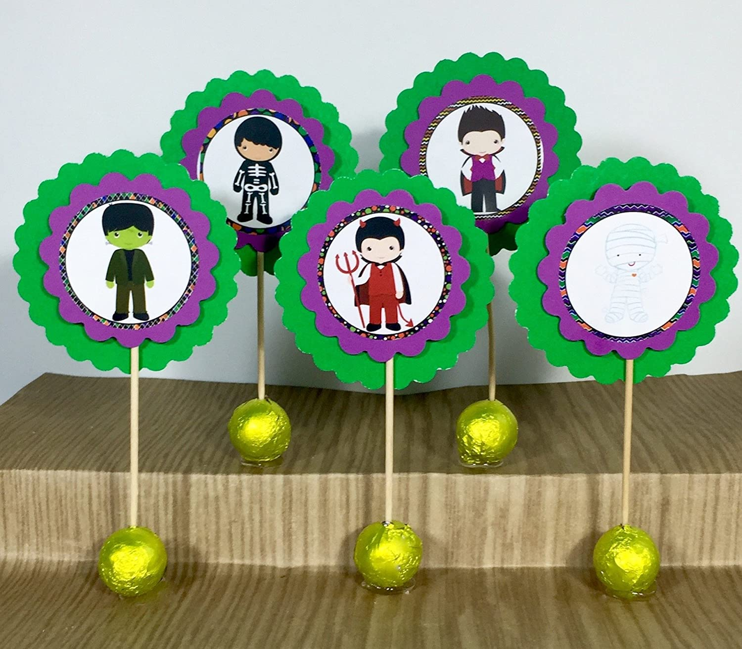 Set of unisex 12 Halloween Cupcake Girls Factory outlet Witches Toppers