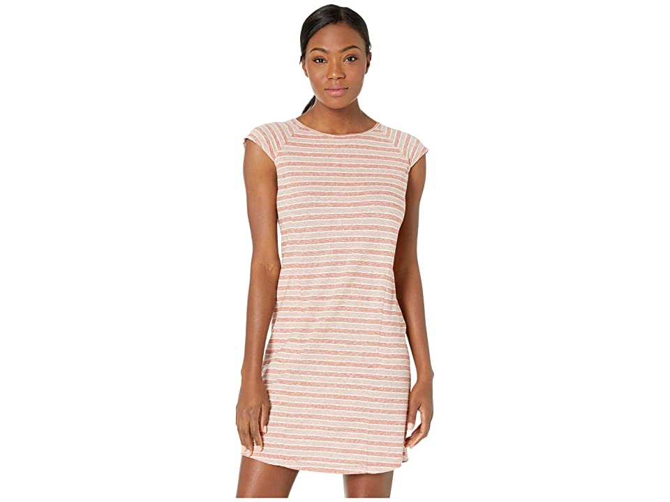NAU Kanab Cap Sleeve Dress (Rosen Stripe) Women