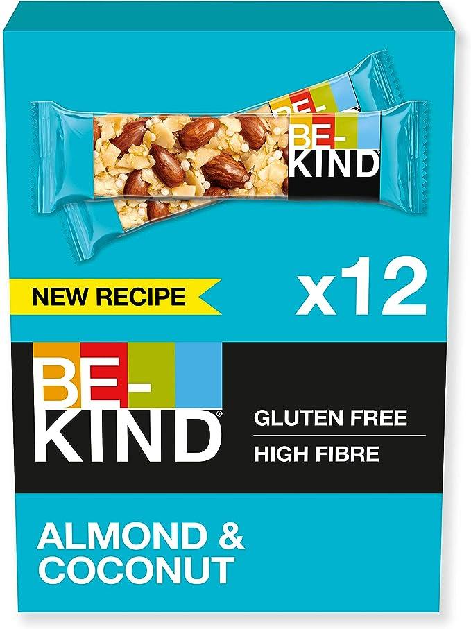 282 opinioni per BE-KIND Barretta al Gusto di Mandorle e Cocco, Snack Senza Glutine, 1 Confezione