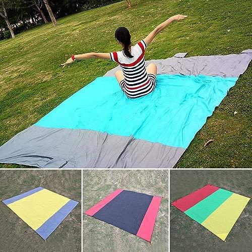 melysUS Outdoor Waterproof Polyester Patchwork Beach Camping Picnic Blanket Blankets