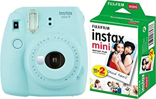 Fujifilm Instax Mini 9 Instant Camera (Ice Blue) with Film (20 Shots)