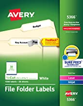 Best avery 5366 label size Reviews