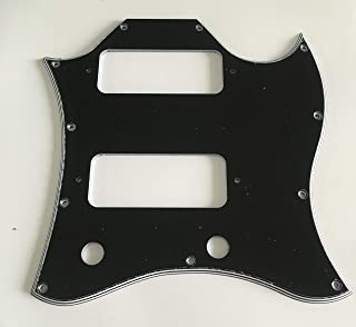 Electric Guitar Pickguard for Gibson US SG P90 Full Face Style (3 Ply Black)