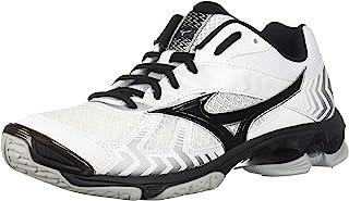Mizuno (MIZD9) Men's Wave Bolt 7 Volleyball Shoe, White/Black, Men's 7 D US