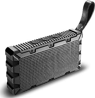 Wireless Waterproof Bluetooth Speaker by Kong Kim,Portable Mini Pocket Size Hands Free 5W Loud Sound Box,IP67 Floating for Swimming Pool Bathroom Shower Beach Outdoor Sports -Black