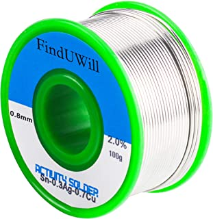 (0.8mm,100g) Lead-free Solder Wire Flux-core Solder Welding Wire Electrical Soldering with Rosin Core,Sn99 Cu0.7 Ag0.3 0.22 lbs