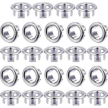 Cocina e Inodoro WJUAN 2 Piezas de Anillo de Rebose 2 Colores Fregadero Repuestos con efecto Decorativo Cubierta de Desbordamiento para Orificios de Desbordamiento de 23-25 mm en Ba/ño