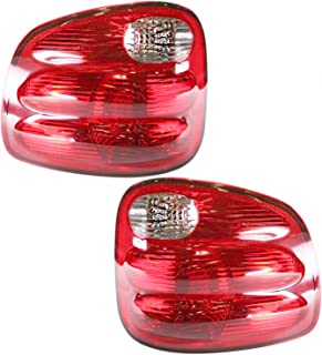 Taillight Tail Lamp Rear Brake Light Lamp Pair Set for 00-04 Ford F150 Truck