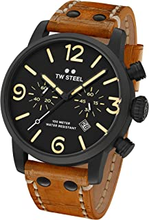 f8ea55ffb4 TW Steel Men's MS33 TW Steel Maverick Analog Display Quartz Brown Watch