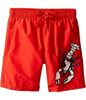 Vilebrequin Kids - Lobster Embroidery Swim Trunk (Big Kids)