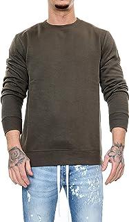 shelikes Men's Sweatshirt Round Neck Long Sleeves Sweater