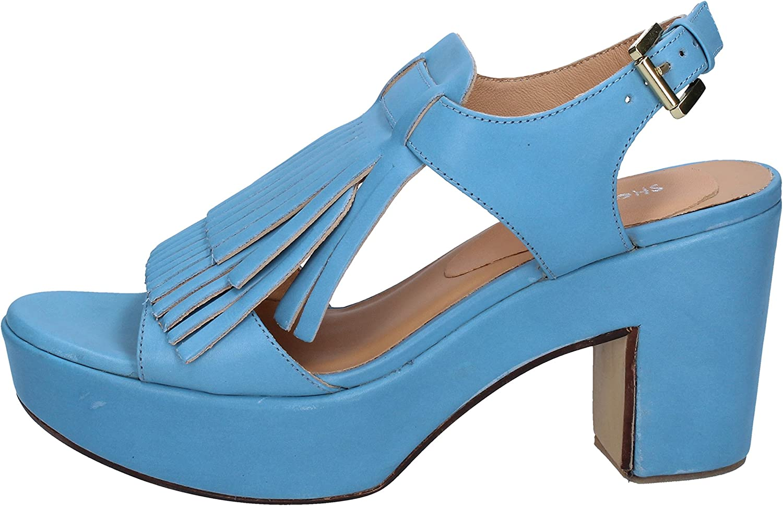 SHOCKS Sandals Womens Leather bluee