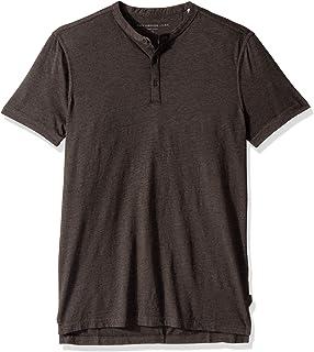 Men's Short Sleeve Henley in Burnout