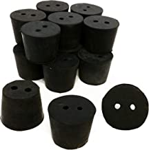 GSC International RS-6-2 Rubber Stoppers, Size 6, Drilled 2-Holes (1-Pound Pack)