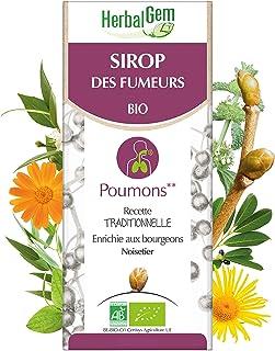 HerbalGem|Sirop des Fumeurs|Pour le bien-être respiratoire du fumeur| Recette Traditionnelle Enrichies en Bourgeons, Herbe...
