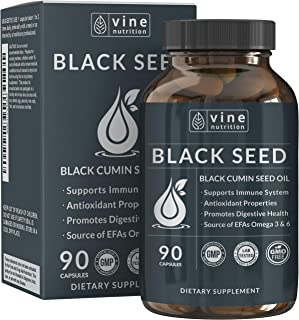 Black Seed Oil Capsules - Nigella Sativa - Immune Support Supplement Soft Gels - Cold Pressed Antioxidant Vegetarian Black...