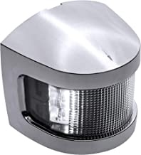 White Masthead LED Marine Navigation Light [IP67 Waterproof] [USCG Approved] [Corrosion Resistant Chrome and ABS] 2 Nautical Mile Visibility for Fishing Boat Yacht Pontoon up to 39.4' (12m)