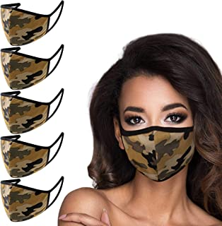 5 Pack Made in USA Unisex 3D Face Mask – Protective, Comfortable and Breathable Mouth and Nose Cover