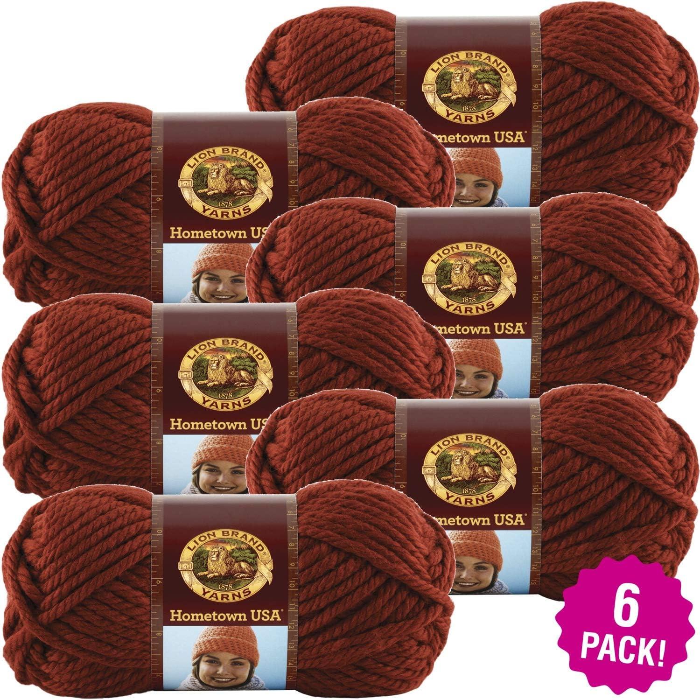 Lion Brand Hometown USA Yarn 6 PkTampa Spice