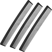 3 Pack Black Carbon Barber Fiber Cutting Comb,Fine Tooth Hair Comb,Hairdressing Styling..