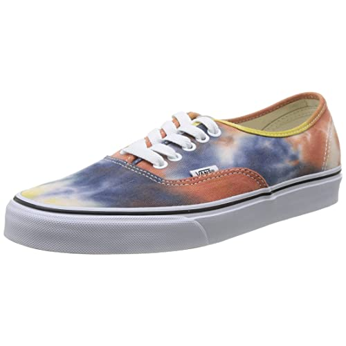 6168e0abc65370 Vans Authentic Tie Dye Navy Burnt Orange Skateboarding Shoe (7.5M 9W)
