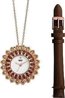 ساعة كوارتز للنساء، بشاشة انالوج وسوار جلدي من بورغي - BUR273BR