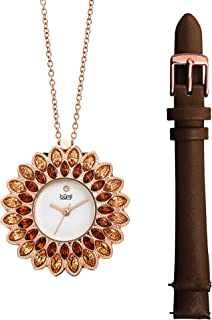 Burgi Womens Quartz Watch, Analog Display and Leather Strap BUR273BR
