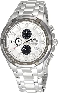 Edifice Watch for Men by Casio, Analog, Chronograph, Stainless Steel, Silver, EF-539D-7A