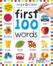 Wipe Clean: First 100 Words (Enclosed Spiral Binding): Includes Wipe Clean Pen (Wipe Clean Learning Books)