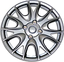 Tuningpros WC1P-17-3533-S - Pack of 1 Hubcap (1 Piece) - 17-Inches Style 3533 Snap-On (Pop-On) Type Metallic Silver Wheel Covers Hub-caps