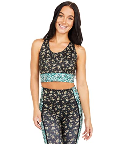 FP Movement Printed Synergy Crop (Black Combo) Women