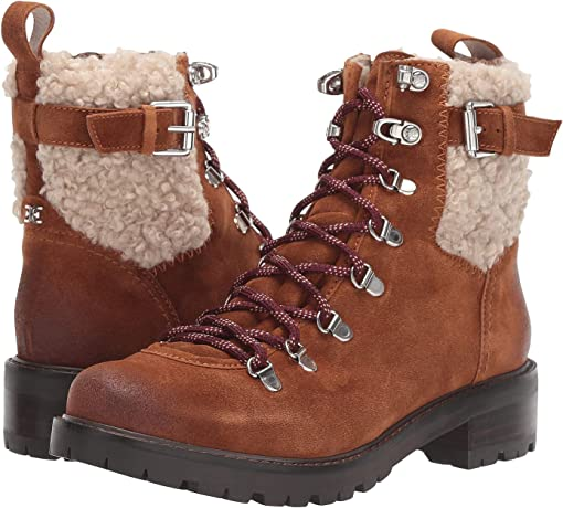 Dark Taupe/Natural Velutto Suede Leather/Tigrado Faux Shearling