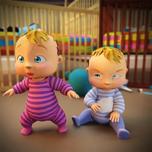 cuidado do bebê gêmeo recém-nascido doce: jogos do bebê mãe