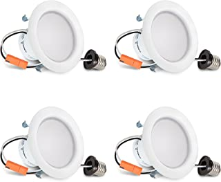 Hyperikon 4 Inch LED Recessed Lighting, 9W (65 Watt Replacement), Dimmable Downlight, 3000K, UL, Energy Star, 4 Pack