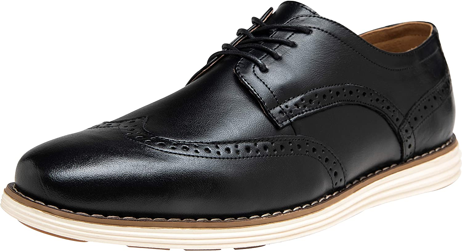 Jousen Men's Dress Shoes Leather Casual Brogue Busi Oxford High Max 68% OFF quality new