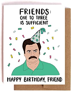 Ron Swanson On Friends Parks and Recreation Birthday Card