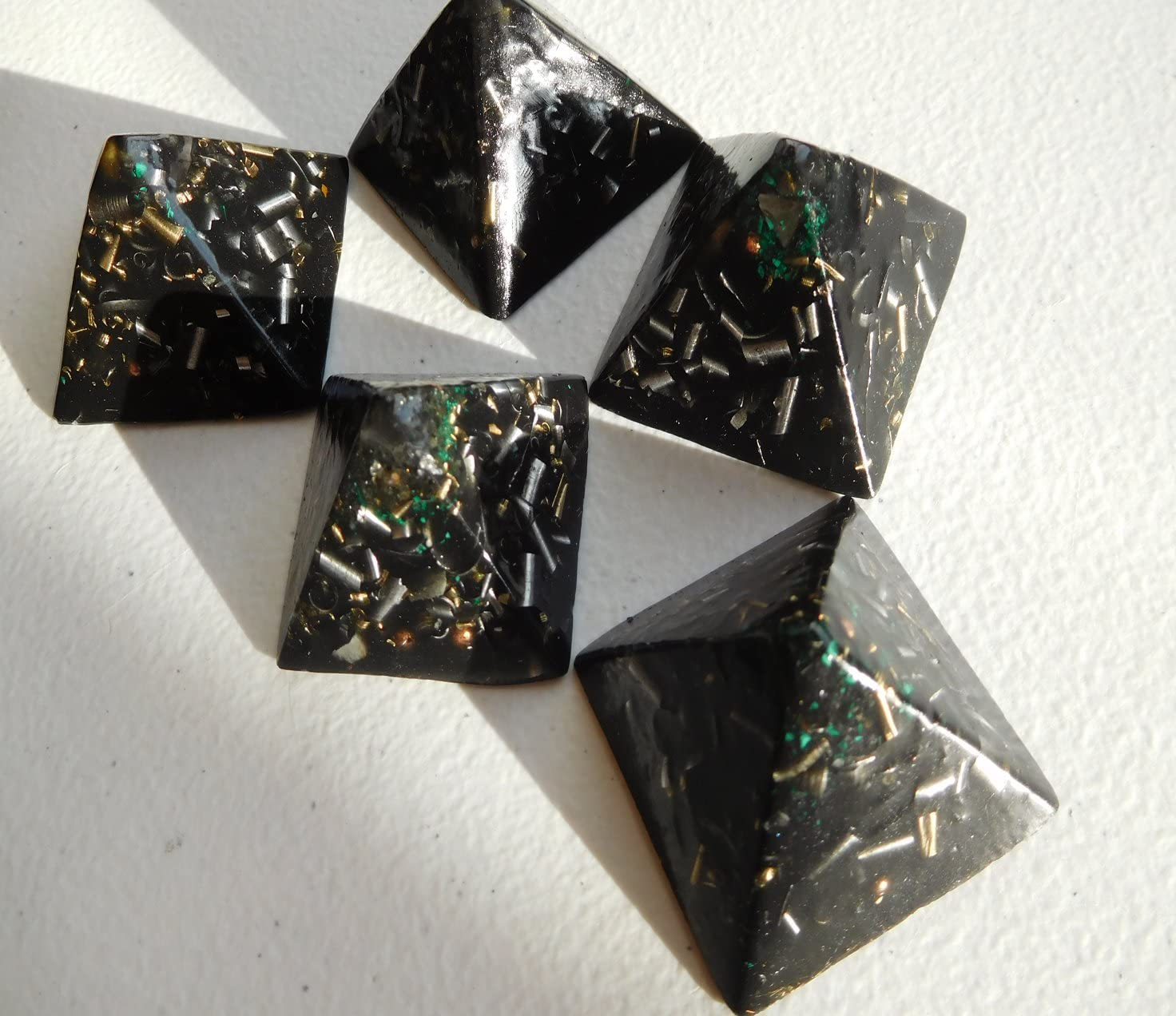 5 Black Sun Small Pyramids Energy Accumulator Generator M Orgone Challenge the lowest price of Online limited product Japan ☆