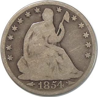 1854 Seated Liberty Half Dollar 50C Very Good