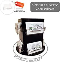Clear Choice Deluxe Rotating Business Card Display   Great for Medical Offices, Law Firms, Banks, Real Estate Offices, Retail Stores, Schools and Much More   Counter-top Black (8 Pocket)
