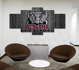 5 Piece American Football College University Teams Art Decor Wall Poster (5 Piece Extra..